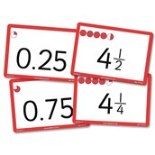 Fraction and Decimal Counting Cards