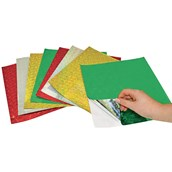 Holographic Self Adhesive Paper Sheets - Assorted - Pack of 25