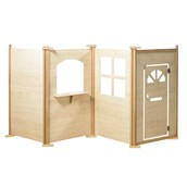 Millhouse - Maple Effect Play Panels - Square Window