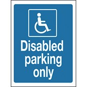 Advisory Signs - Disabled Parking Only