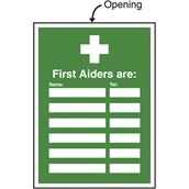 Safety Signs - First Aid Sign - First Aiders are...