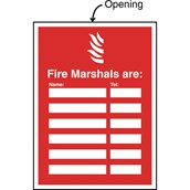 Safety Signs - Fire Marshal Sign - Fire Marshals are...