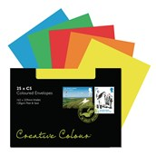 C6 Assorted Peel and Seal Wallet Envelopes - Pack of 25