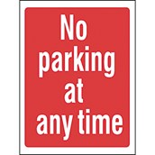 Advisory Signs - No Parking At Any Time