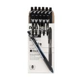 Pentel EnerGel Rollerball Pen - Black - Pack of 12