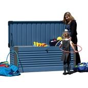 Steel Patio Storage Box - Blue/Anthracite