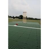 Flicx Cricket Match Pitch Practice Bat End - Green - 10 x 1.8m