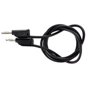 4mm Stackable Plug Lead: Black, 750mm