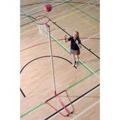 Harrod Sport Wheel Away Netball Post - Pink - Pair