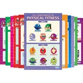 Components of Physical Fitness Posters - Pack of 12