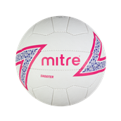 Mitre Shooter Netball - White - Size 5 - Pack of 12
