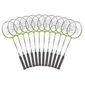 Davies Sports Independent Badminton Racquet - Green - 26in - Pack of 12