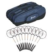 Davies Sports Power Badminton Racquet - Black - 26in - Pack of 12