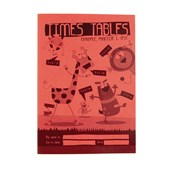 Red A5 Times Table Book 24-Page, - Pack of 30
