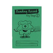 A5 Reading Record Book, 36 Page, Key Stage 2, Green - Pack of 30