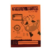 A5 Reading Record Book 36 Page, Ruled, Orange - Pack of 30