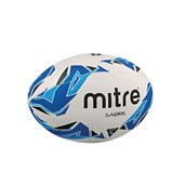 Mitre Sabre Rugby Ball - White/Blue/Cyan - Size 4