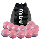 Mitre Oasis Netball - Pink - Size 5 - Pack of 12