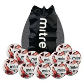 Mitre Tactic Football - White/Red/Black - Size 5 - Pack of 12