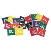 Alphabet and Number Beanbags - Assorted - Pack of 36