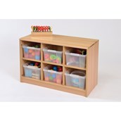 Room Scenes 6 Tray Storage Unit with Clear Trays