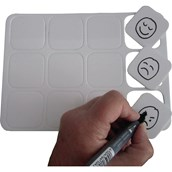 Communication Mini Dry-wipe Boards - pack of 12
