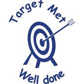 Xclamations Stamp - Target Met - Well Done