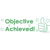 Xstamper 3 in 1 Stamp - Objective Achieved, Teacher Assessed and Target Achieved