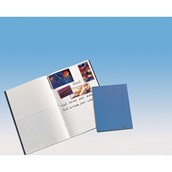 339 x 240mm Project Book, 40 Page, Top Half Plain / Bottom Half 12mm Ruled, Light Blue - Pack of 100