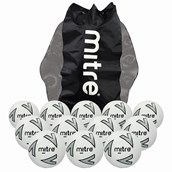 Mitre Impel Football - White/Silver/Black - Size 3 - Pack of 12