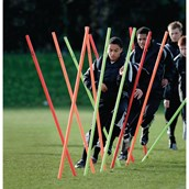 Precision Pro Boundary Poles - Orange/Red/Yellow - Pack of 12