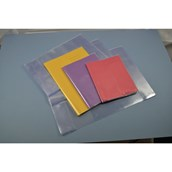 """Premium Transparent 8x6.5"""" (203 x 165mm) Book Covering, 220 Micron - Pack of 100"""