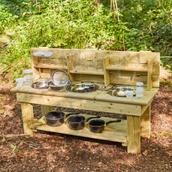 Outdoor Messy Kitchen