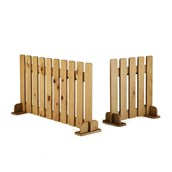 Outdoor Double Picket Fence Panel