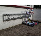 Scooter Fixed Wall Rack - 12 Scooters