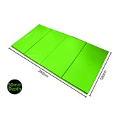 Sure Shot Foldable Mat - Green - 2.4m x 1.2m x 50mm