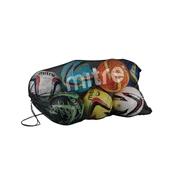 Mitre Mesh 10 Ball Bag - Black/White