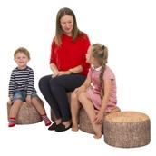 Tree Stump Stool Classpack - Set of 4 - pack of 4