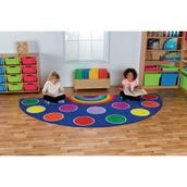 Rainbow Semi-Circle Carpet