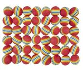 Rainbow Foam Balls - Multi -  63mm - Pack of 48