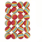 Rainbow Foam Balls - 63mm - Pack of 24