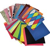 Plain and Patterned Fabric Squares - Pack of 25