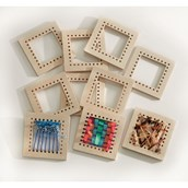 Wooden Weaving Squares - Pack of 10