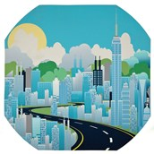 Superheroes Daytime Cityscape Play Tray Mat from Hope Education