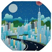 Superheroes Night-Time Cityscape Play Tray Mat from Hope Education