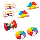 Bigjigs Toys Wooden Rattle Pack