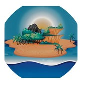 Desert Island Play Tray Mat from Hope Education