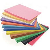 Construction A4+ Coloured Paper Block (90gsm) - Pack of 648