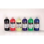 Colour Craft Silk Paint – Assorted - Pack of 6