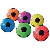 Dimple Soccer Balls - Assorted - Pack of 6